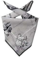 Mumin snusnäsduk/scarf, grå