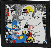 Mumin bandana - Number one, svart