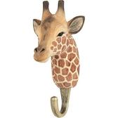 Handcarved hook Giraffe
