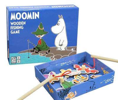 Mumin fiskespel i trä