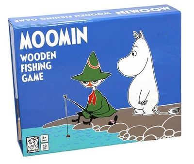 Moomin wooden fishing game