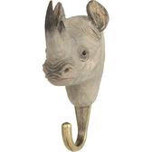 Handcarved hook Rhino
