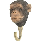 Handcarved hook Chimpanzee