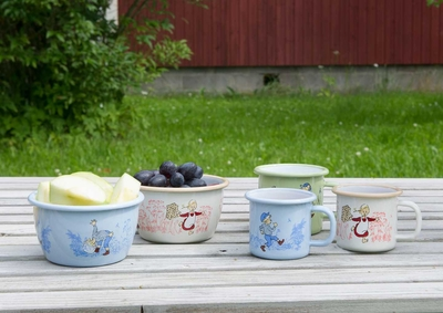 Enamel bowl 3 dl - Emil, blue