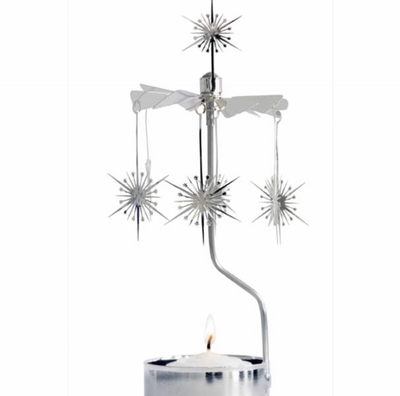 Rotary candle holder - Shimmering star