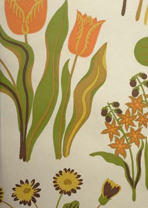 Josef Frank Vårklockor wallpaper no A6180