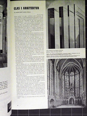 Architecture 1960/12 PUB, Paul  U Bergström, glas, Torbjörn Olsson, Erik och Tore Ahlsén, TAGE WILLIAM-OLSSON, Krematorium Gävle, Alf Engström, Gunnar Landberg, Bengt Larsson, Alvar Törneman.