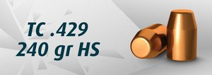 "HN 44"" TC .429"" / 240 Grain TC HS, 500st"