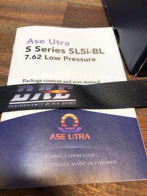 Ase Utra Ljuddämpare SL5i-BL 7,62 Low Pressure