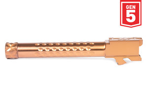 ZEV V2 Match Barrel, G17, Gen5, 1/2x28 Threading, Bronze
