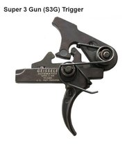 Geissele AR15 Super 3 Gun (S3G) Trigger - Curved