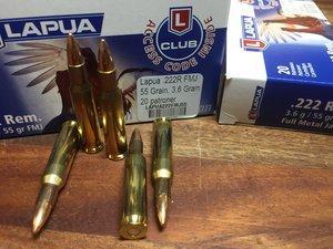 Lapua .222R Ammunition