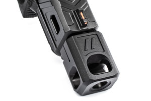 ZEV PRO Compensator V2,  13,5x1 LH Threading, 9mm, Black
