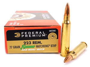 Federal .223R 77G BTHP GM Match King Ammunition