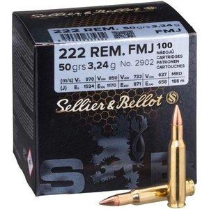 S&B .222 Rem 50G FMJ, 100 ptr