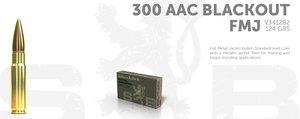 S&B .300 AAC (300 BLACKOUT), 124 grain, 20 ptr