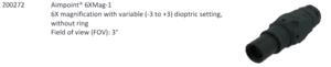 Aimpoint® 6X-MAG, 6x förstoring