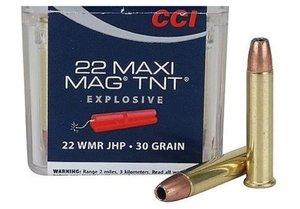 CCI .22 WMR, 30Gr  MAXI-MAG TNT JHP 50 ptr