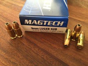 Magtech 9K, 9x19 147 Grain JHP 50 ptr