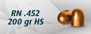 """HN .45"""" RN .452""""/200 Grain RN HS, 500 st"""