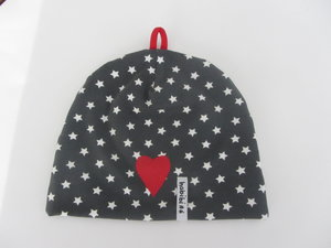 Små vita stjärnor med hjärta