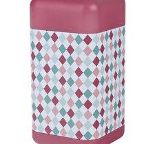 Fyrkantig teburk - Retro Röd med mönster 200 g