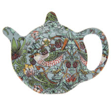 Tepåsfat William Morris Teal Strawberry Thief