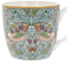 William Morris Teal Strawberry Thief - Frukostmugg