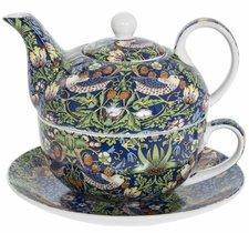 Tea For One Set - Morris Blue Strawberry Thief  - Kopp & Kanna
