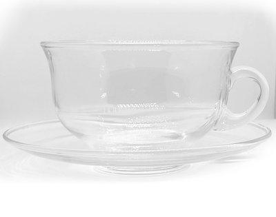 Tekopp i glas med fat