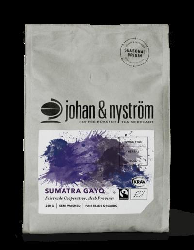 Kaffebönor Sumatra Gayo FTO 250g - Johan & Nyström