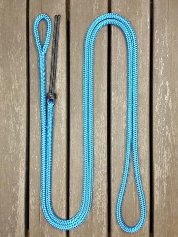 Ledrep med ögla och repsnärt - 10 mm