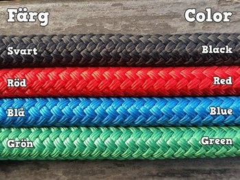 Lead rope with loop and back splice - 14 mm