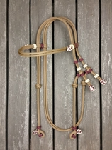 Rope bridle with knot adjustment