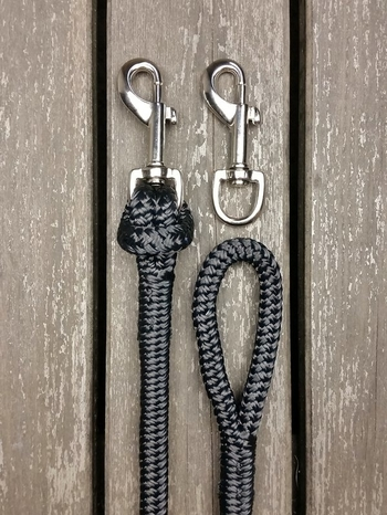 Long split reins with removable snaps  and back splices - 10 mm