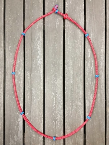 Neck rope with knot adjustment