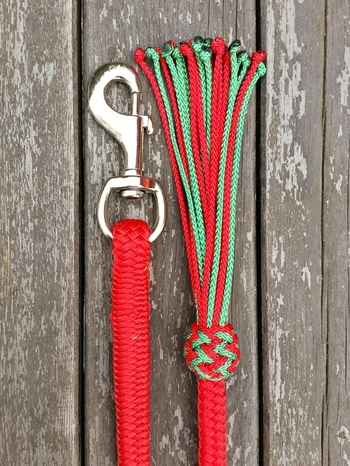 Lead rope with bolt snap and tassel - 14 mm