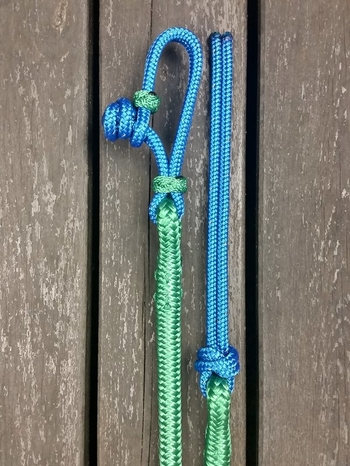 Lead rope with rope connector and rope popper - 10 mm