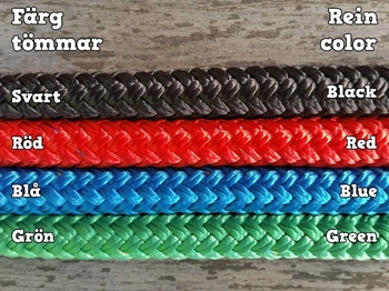 Long loop reins with permanent snaps - 10 mm