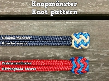 Rope connector with decorative end knot for neck ropes
