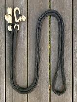Hela tyglar med repfästen och mittmarkering - 10 mm, 2,40 m, Svart