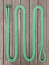 Mecate rein with button knots - 14 mm, 6,70 m, Green