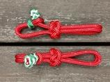 Rep-slobberstraps med dekorativa ändknopar