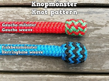 Lead rope with rope connector and end knot - 14 mm