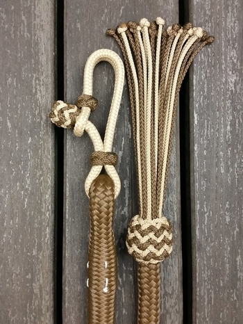 Lead rope with rope connector and tassel - 14 mm