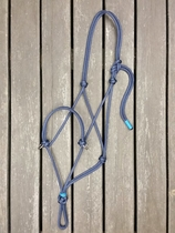 Sidepull rope halter with rings