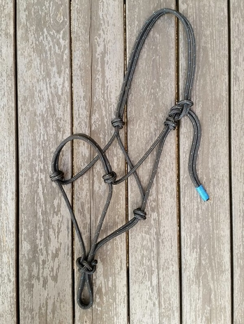 Standard rope halter - Pony, Black