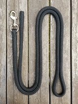 Lead rope with bolt snap and back splice - 14 mm, 2,5 m, Black