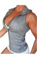 Bia Brazil Hoodie Vest 2613 Zipper Grey Melange