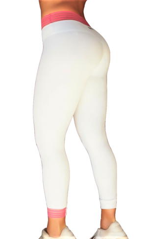 RAW By Adriana Kuhl Urban Tights White/Pink